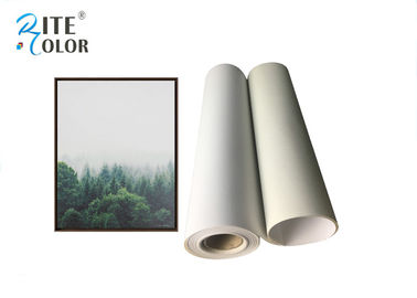 China Matte Inkjet Digital Large Format Printing Canvas Polyester Print Fabric 220Gsm factory