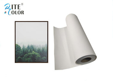 China Waterbased Polyester Canvas Rolls 260gsm Matte Inkjet Canvas Printing factory