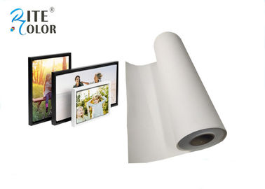 China Inkjet Digital Printing Polyester Canvas Rolls , Wide Format Canvas Digital Print Fabric factory