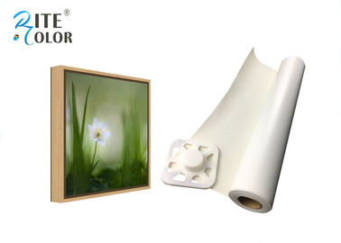 China Solvent 260Gsm Matte Inkjet Printable Canvas Waterproof Fabric For Stage Background factory