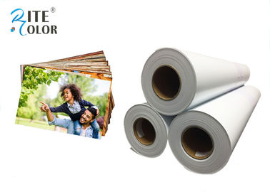 China Smooth 190gsm Resin Coated Photo Paper , Large Format Silky Photo Paper For Inkjet Printer factory
