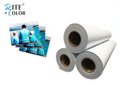 "China 42"" Width RC Glossy Photo Paper , White Inkjet Photographic Paper Roll factory"