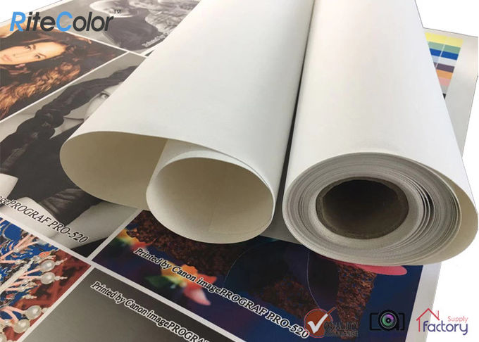 320gsm Digital Printing Inkjet Cotton Canvas Roll , Large Format Printer Canvas